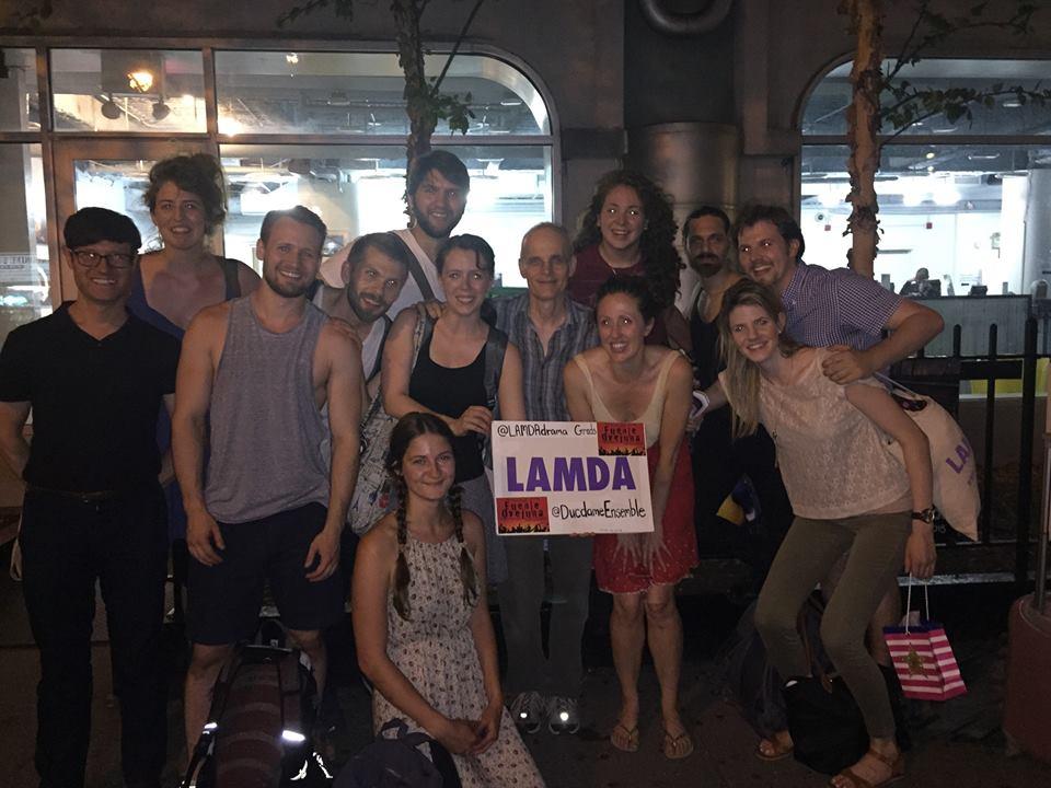 Fellow LAMDA alum Zeljko Ivanek (Madam Secretary, Heroes, True Blood, Argo) with the cast and crew of Fuente Ovejuna