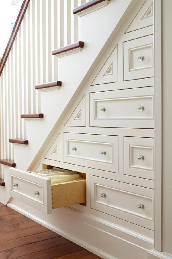- This space is often wasted and closed up in framing and sheetrock, but if you can open it up and take advantage of its space, its not that hard. Use a stud finder to find the studs, mark them out on the wall, use a hammer or a sheetrock saw to cut back the sheetrock. Use 2x4's to frame out the shelves, re sheetrock, paint and voila! Instant storage!