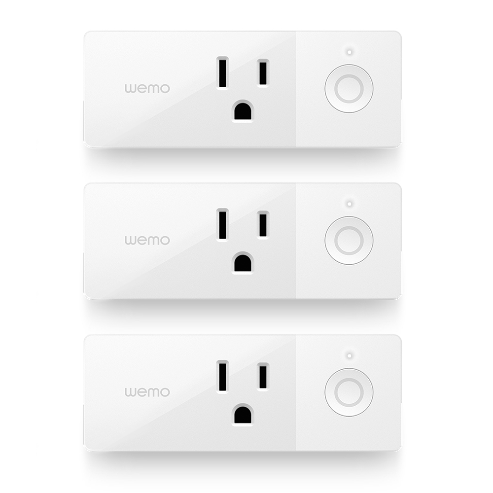 2) Belkin WeMo Mini WiFi Smart Plug - Belkin's WeMo Mini Wi-Fi Smart Plugs are priced well at $25 a pop. It also has a smaller design than other smart plugs that won't block other outlets. It connects over Wi-Fi and it's compatible with Amazon Alexa, Apple HomeKit and Siri, Google Assistant and IFTTT. The one thing it can't do that other smart plugs can is track the energy consumption at the outlet -- if you want that in a Belkin product, you'll need to spend $50 for a WeMo Insight Switch.