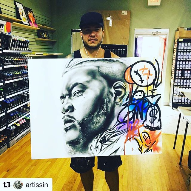 #Repost @artissin with @get_repost ・・・ My Bro @michael_vahl_artwork Came Thru To Show Me His Latest Work He Completed For A Client This Morning 🔥💯🔥 All 💯Mtn 94s #art #talent #streetart #colors #graffiti #mtn94 #artissin #murals #fatcaps #live #love #strive #life #nyc #dtsp #stpete #graffshop #graffitisupplies #colors #portraitartist