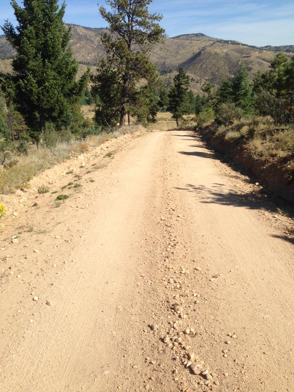 The road up Arkansas Mountain