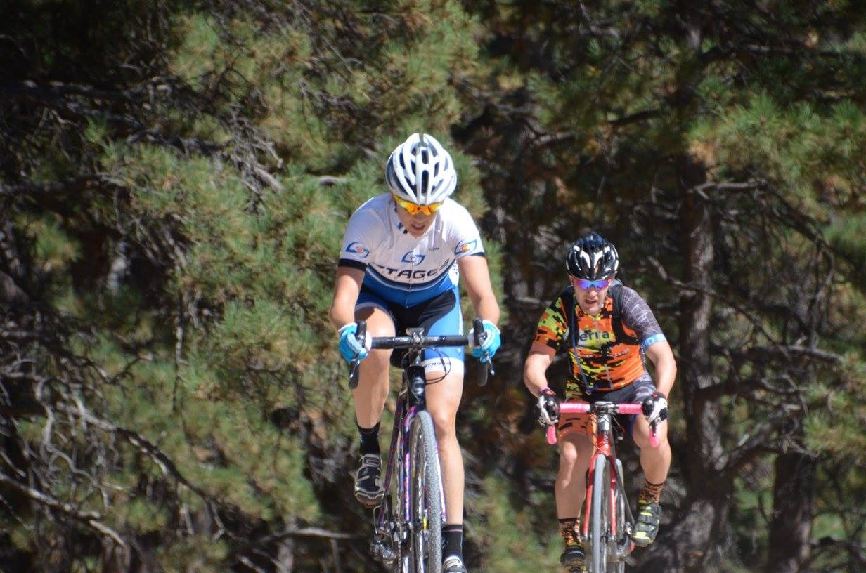 Jennifer and Andy riding the dirt last season. Perhaps, with his new training plan, roles will reverse and he'll drop Jennifer in 2017.