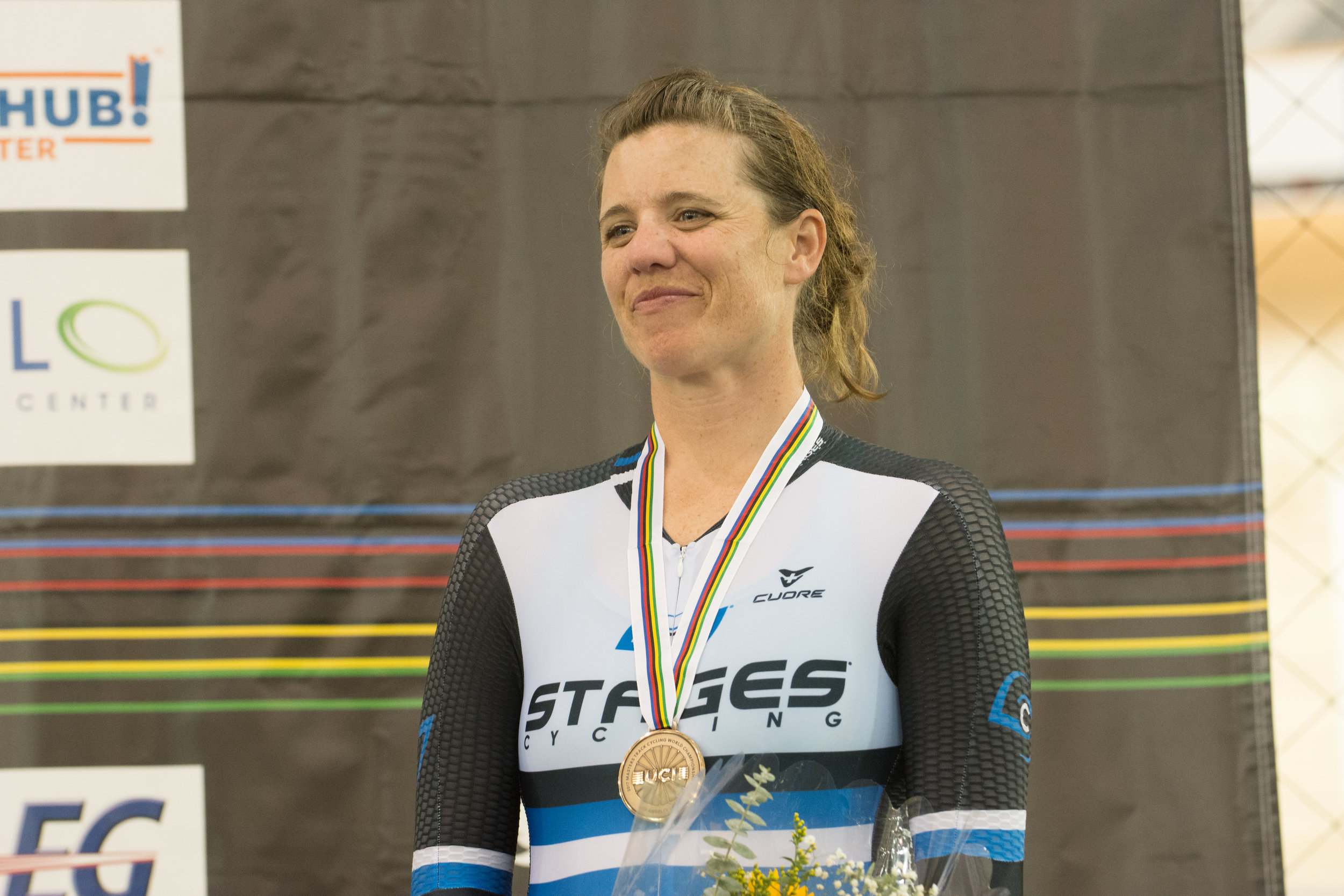 Bronze medal in the 2k Pursuit. Photo by Craig Huffman.