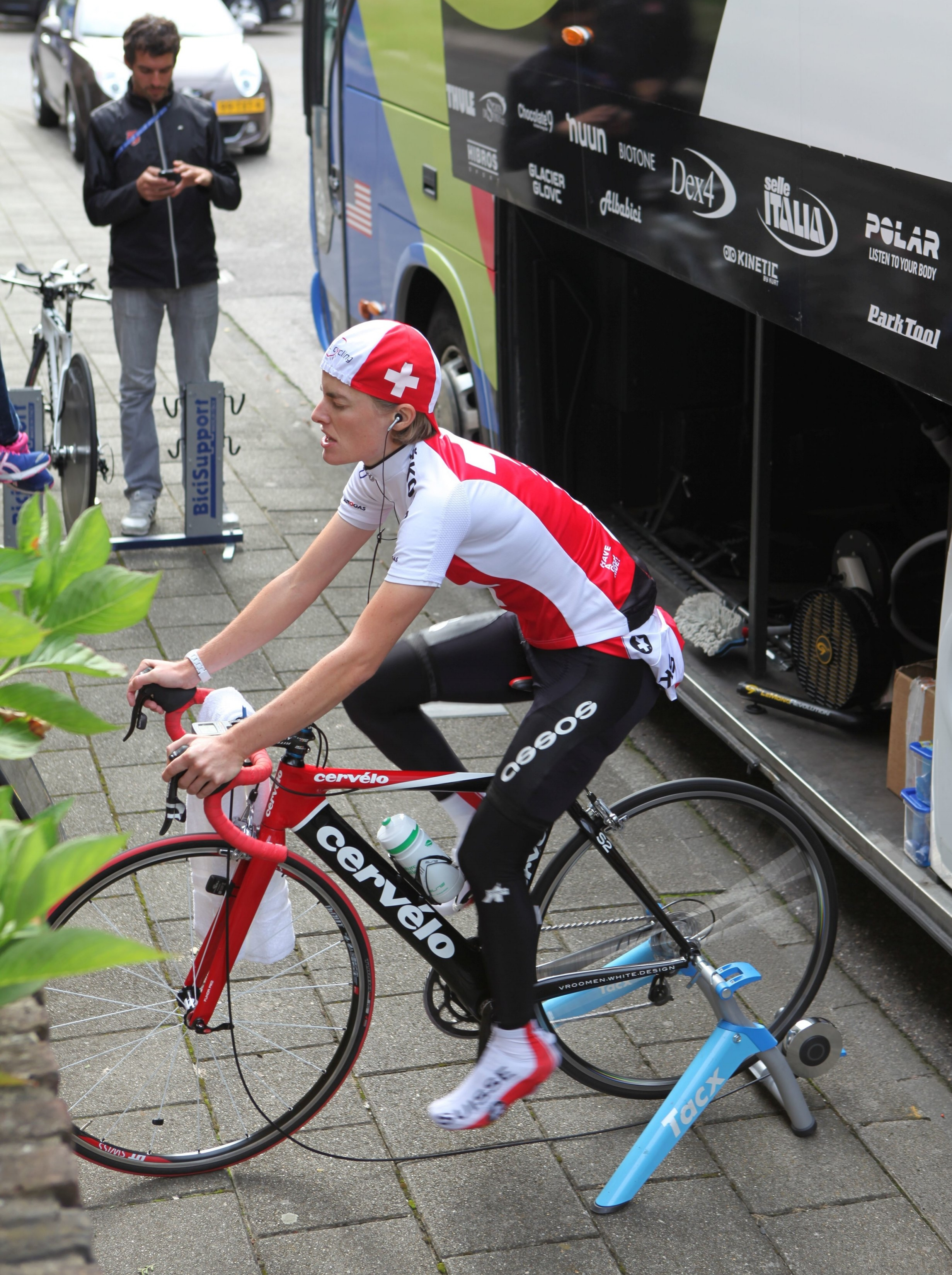 Warming up for the TT at Worlds 2012 in Valkenburg (NED)