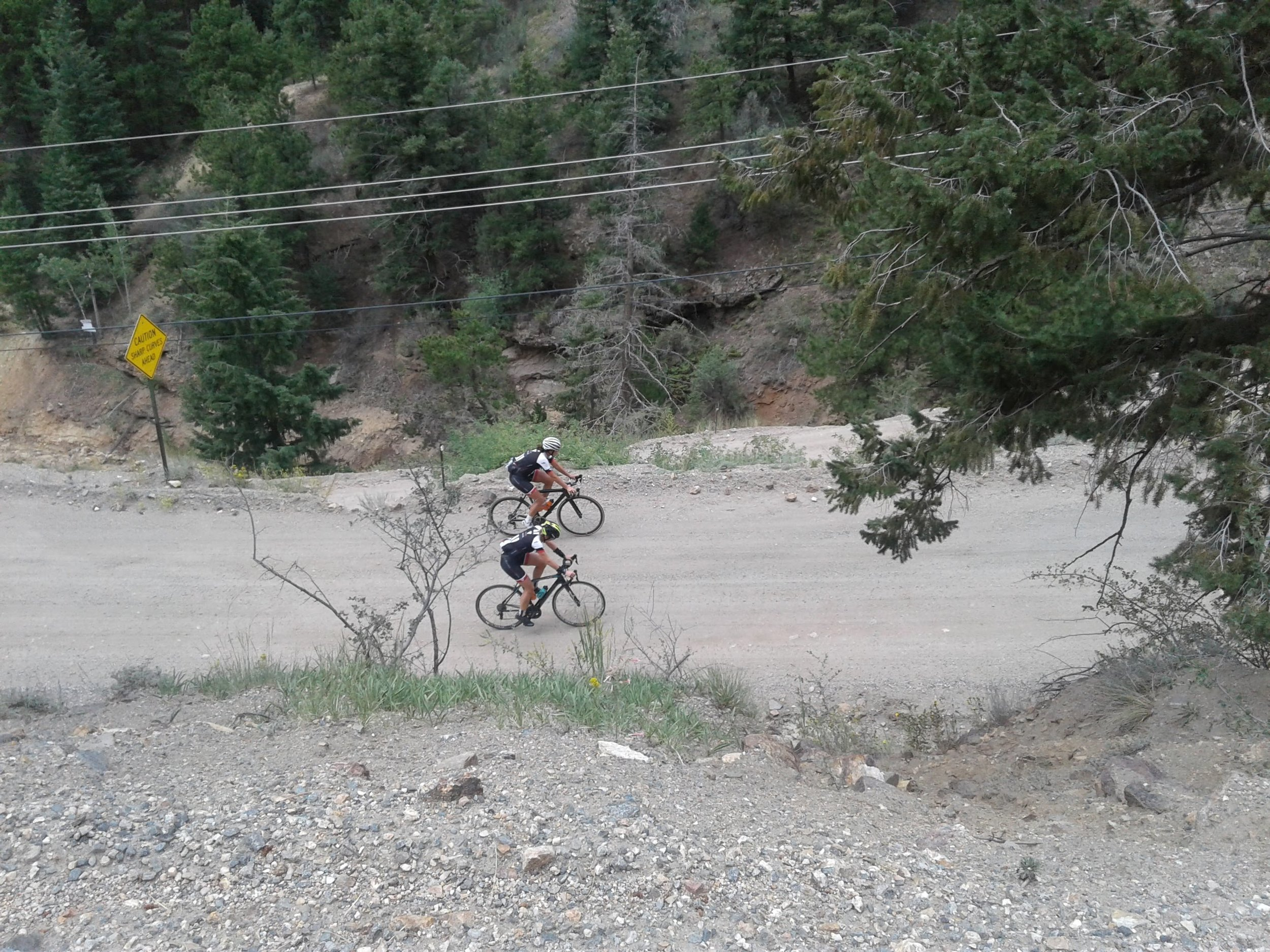 riding up Virginia Canyon