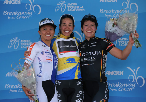2014 Tour of California Circuit Race: 1st: Carmen Small, 2nd: Coryn Rivera, 3rd: myself
