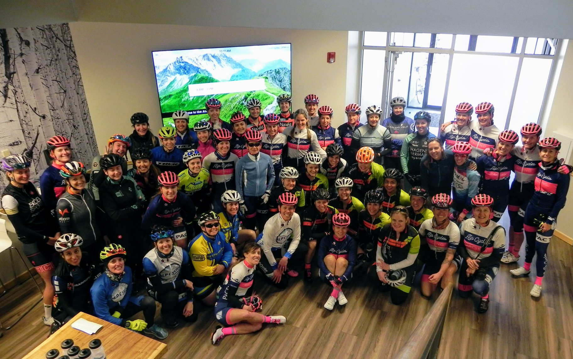 Last year's criterium clinic had almost 50 women