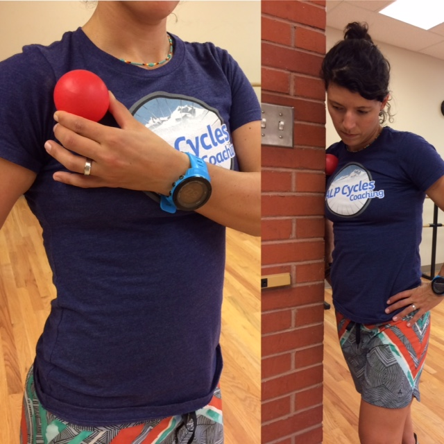 Pec Smash: Use a tennis ball, lacrosse ball or racketball. Find that sweet spot and use the wall to control pressure