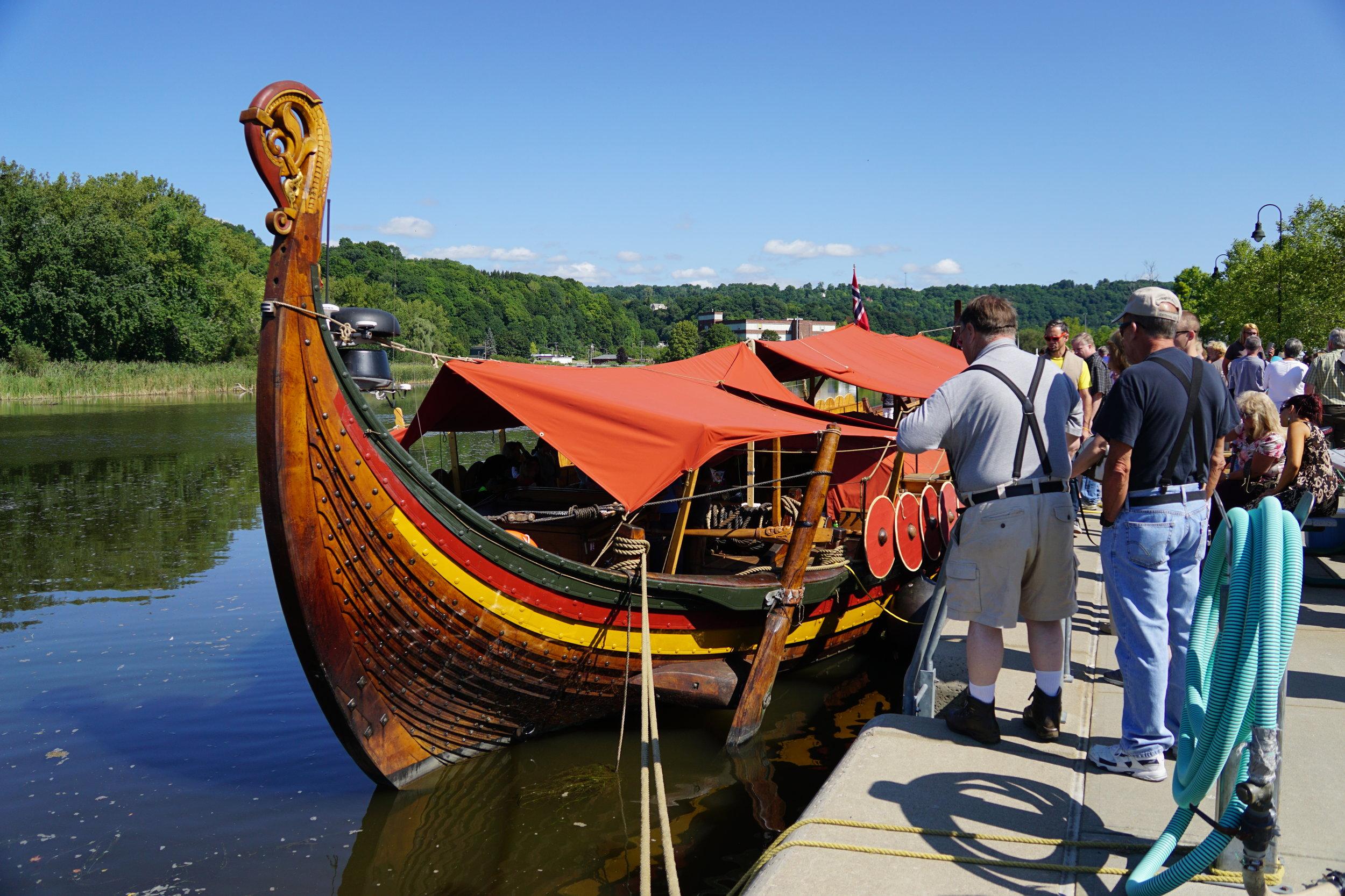 Draken Harald Hårfagre docked.