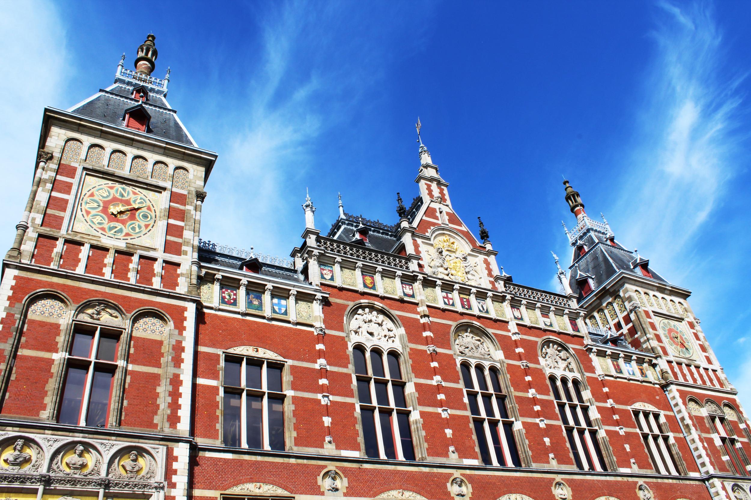 Train Station in Amsterdam - Photograph by Lauren Martin