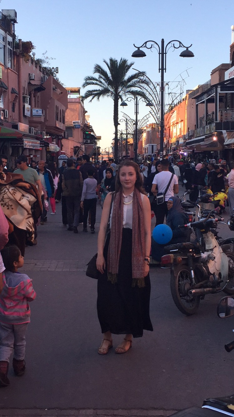Standing in the streets of Marrakesh