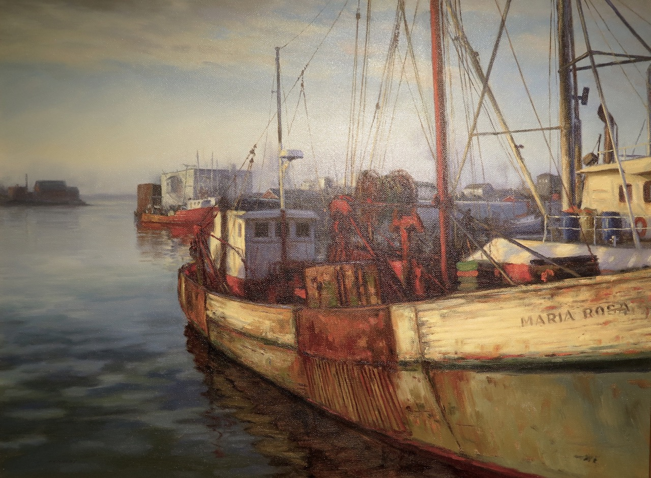 "Oil/Acrylic Second Place  Steve Kennedy ""Gloucester Morning"