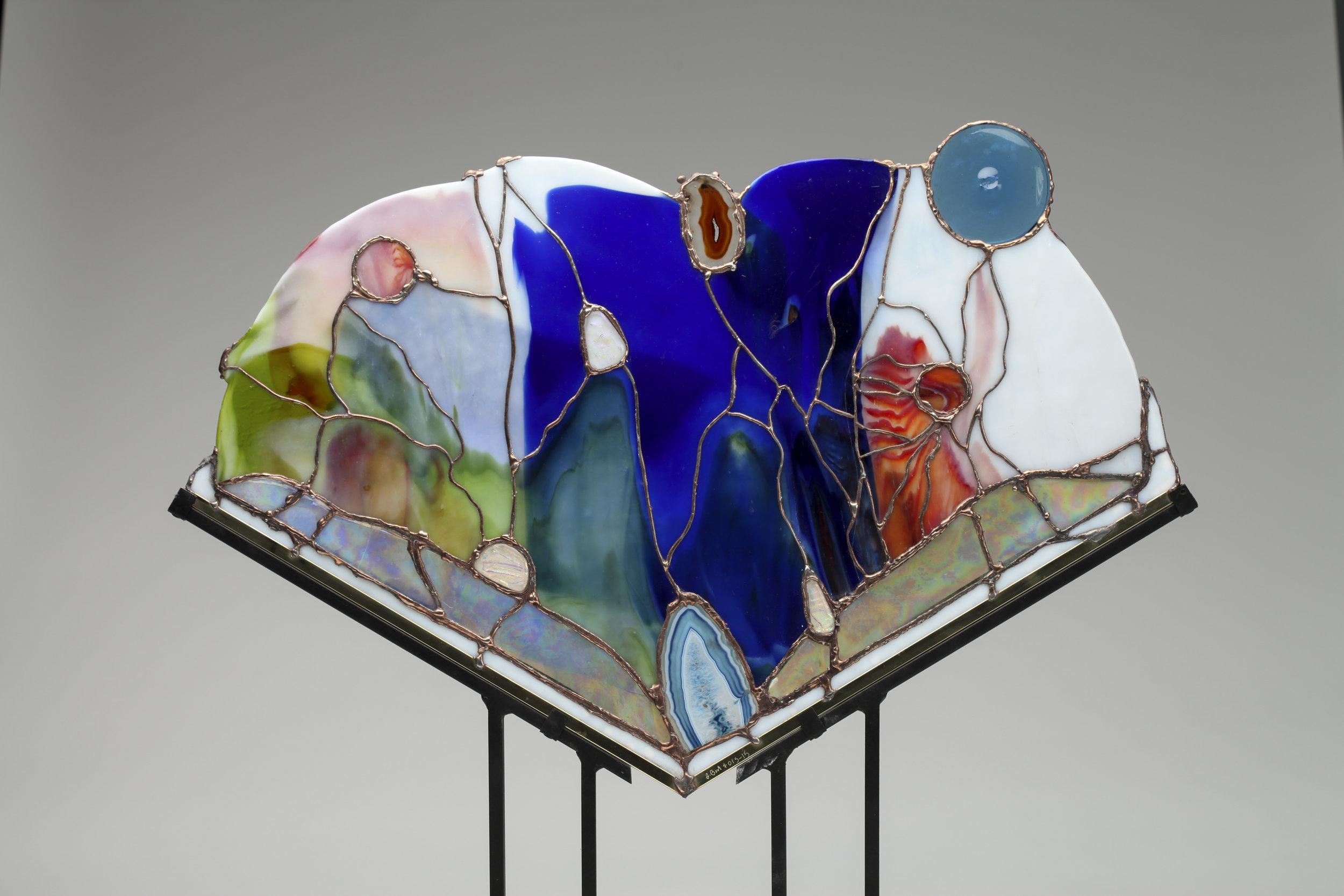 art glass stand, sculpture.jpg