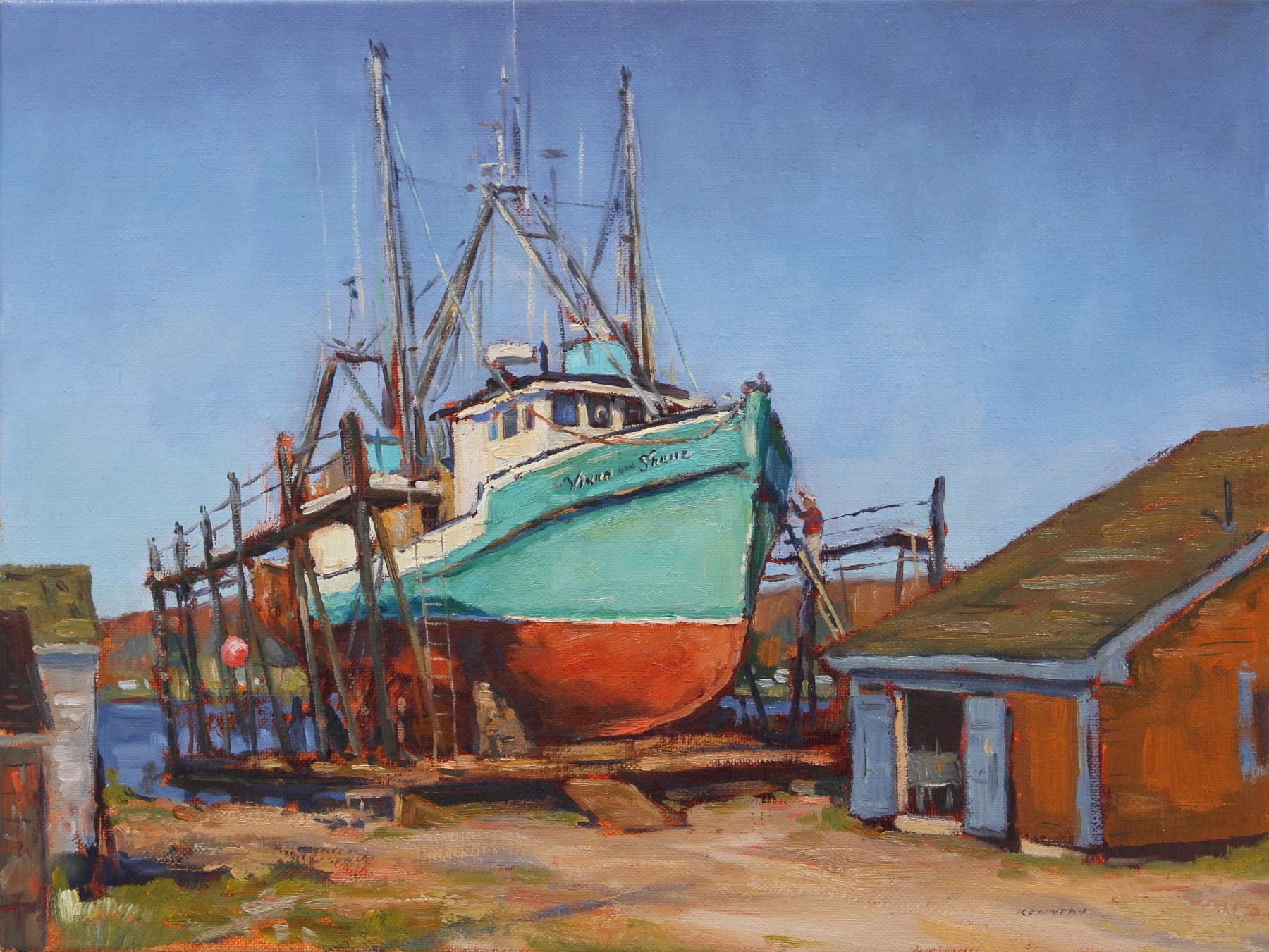 A Annapolis Boatyard ol 12x16 KENNEDY PTG .JPG