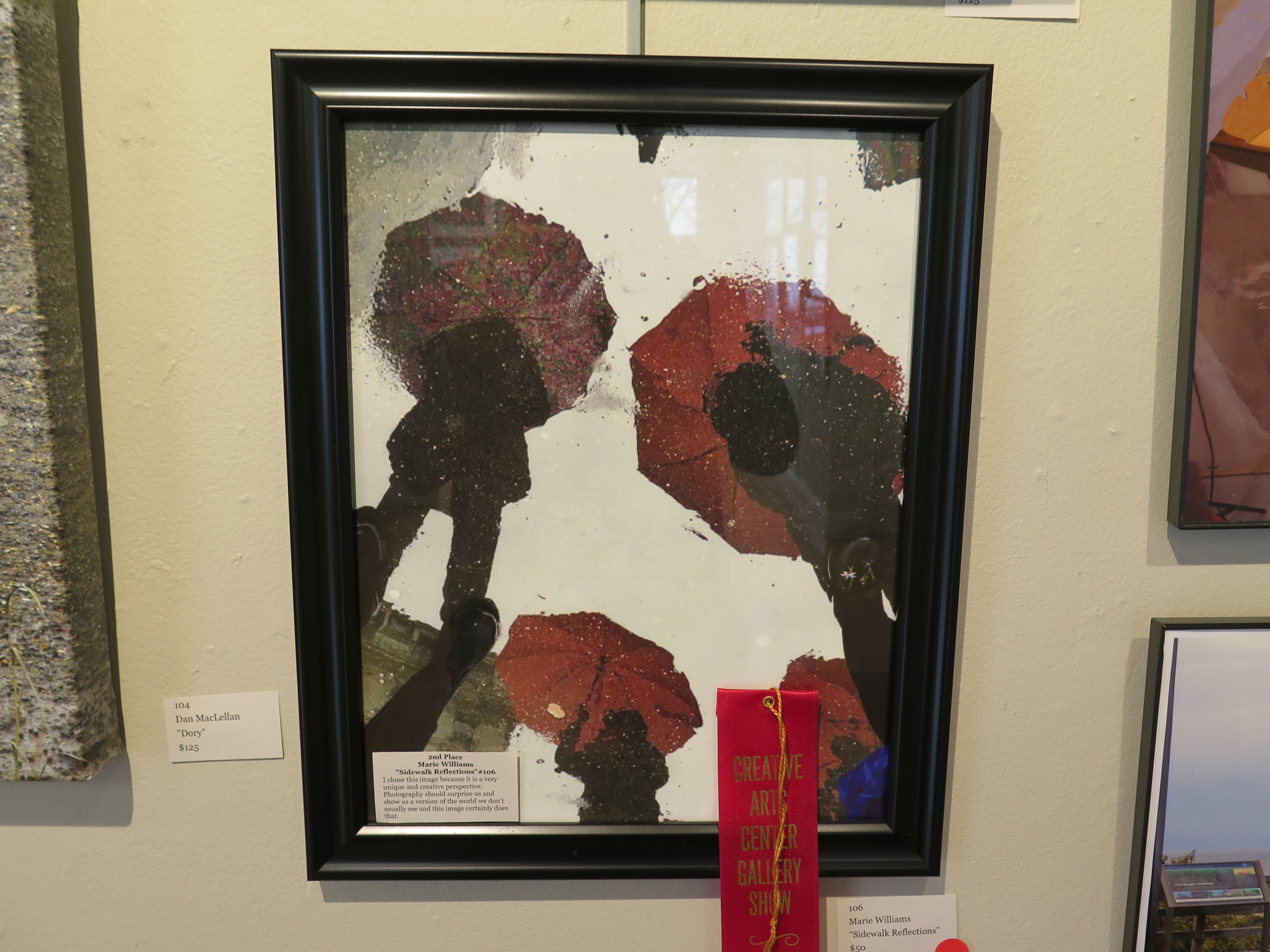 "2nd Place Marie Williams ""Sidewalk Reflections"""