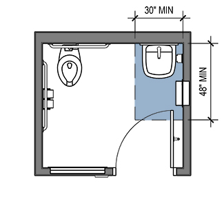 ADA Accessible Single User Toilet Room Layout and ...