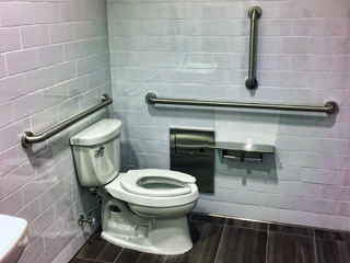 Vertical Grab Bars In Toilet Rooms, How To Install Handicap Bathroom Rails For Grab Bars