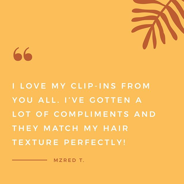 What can we say? Our clip-ins are simply the best 😍 Tap to shop them here!