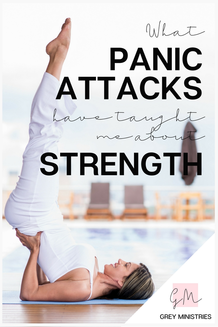 "Have you ever suffered from a panic attack? Do you have a loved one struggling with addiction? Life may often feel like it is in ""panic-mode""! You could say that over time, life's hardships have ""weakened"" me, so to speak. What I could have handled much more gracefully years ago, is more difficult for me now. There is a lesson to be learned in these types of ""weakened positions"" because the Bible talks plenty about how  when we are weak, we are strong. Read more or pin for later!"
