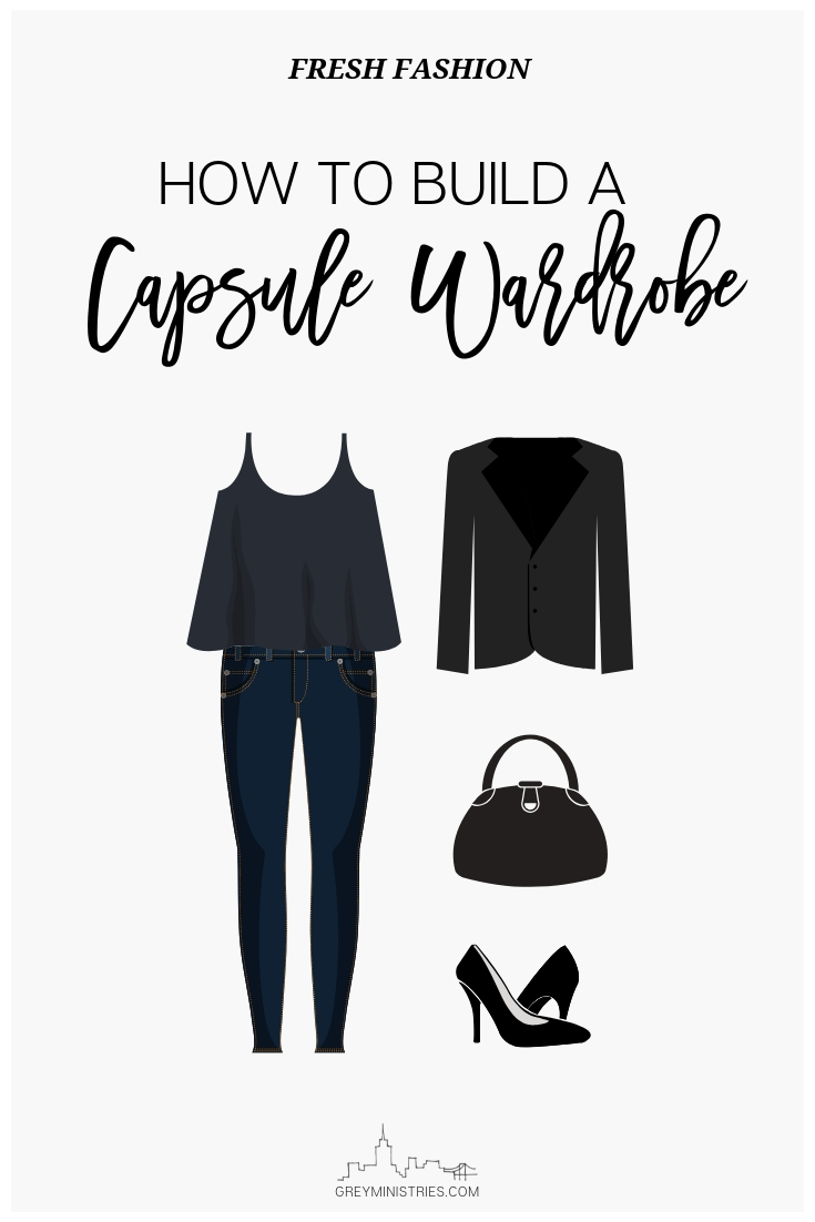 What's a capsule wardrobe? A capsule wardrobe is basically essential items that don't go out of style and will last you for many years, through many trends and seasons. I love fashion so for myself for fall and winter, a capsule wardrobe might look like: a black t-shirt, a white t-shirt, a pair of straight-leg or skinny jeans, a basic crew-neck knit sweater, open cardigan and pair of black pull-on boots. Then, I would add in a couple trendy items and voila, I have a capsule wardrobe that is trendy and works for my life! #capsulewardrobe