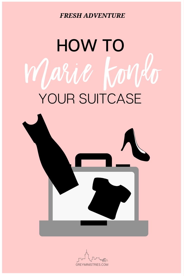 The Konmari Method has taken American households by storm. With tiny, three-quarter folds, greetings to homes and piles and piles of clothing, Marie Kondo sure has a lot to teach us about organizing. I love her tiny boxes in the drawers! But how can we apply the #konmari method to #vacation and more specifically, #packing our suitcases?! Join Grey Ministries for the month of April as we organize our way to a fresh adventure!