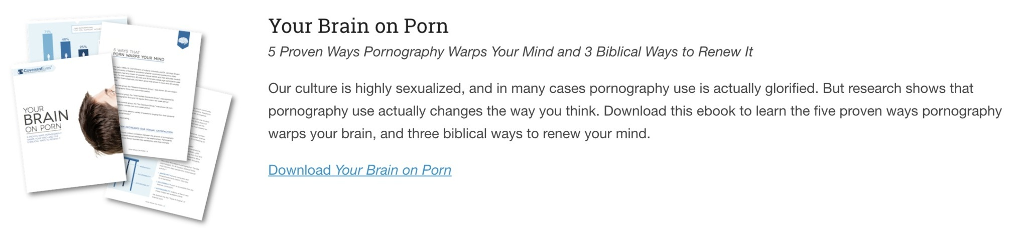 your brain on porn, free ebook
