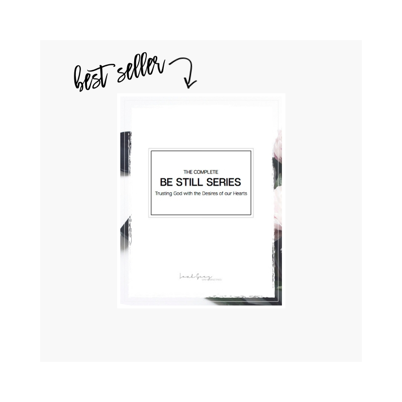 The be still series, a bible study on how to find peace and center yourself in crisis situations