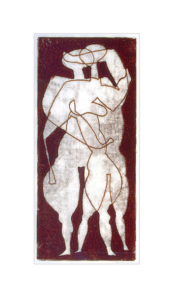 Untitled (Two Standing Figures)