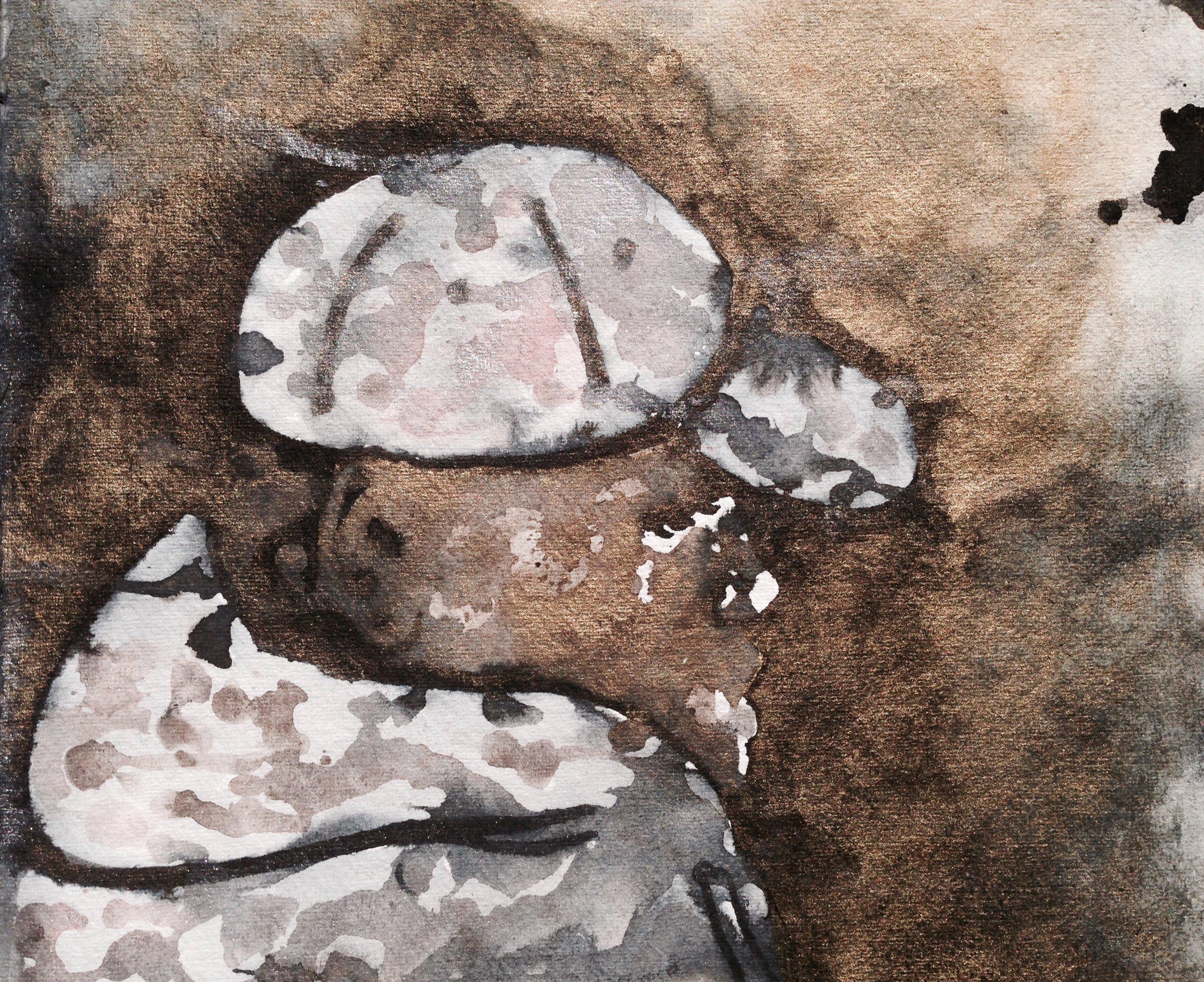 Man with cap.