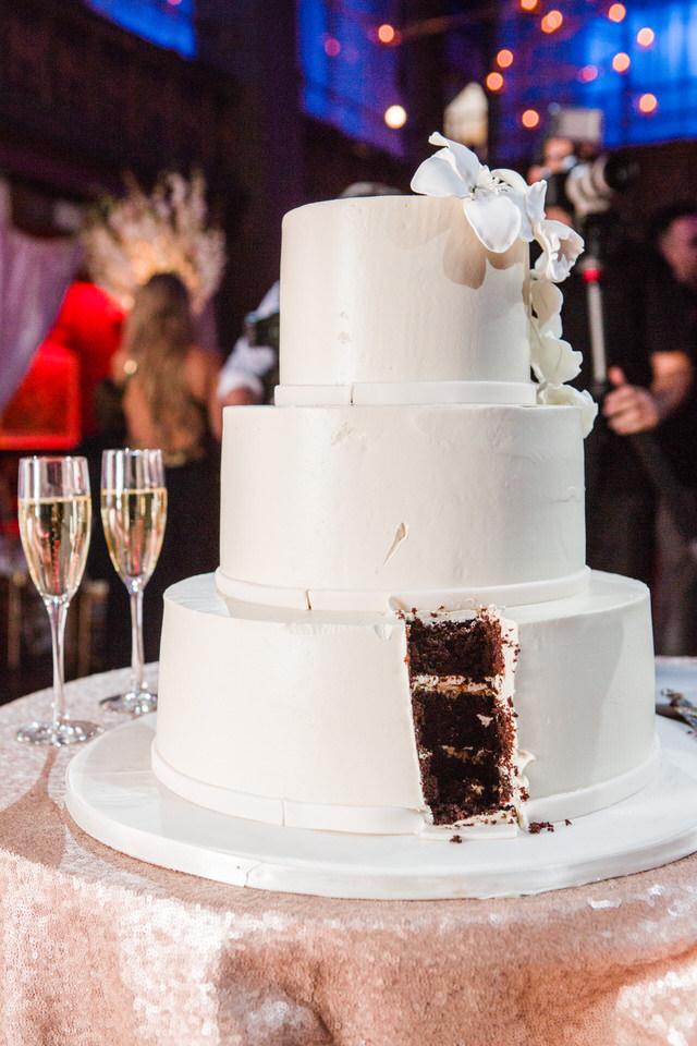 White Fondant Wedding Cake by Abigail Kirsch