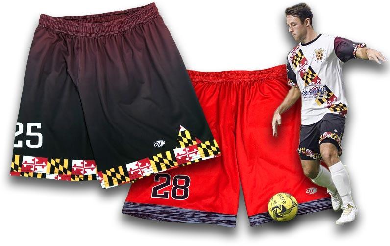 custom soccer shorts  custom soccer uniforms  team soccer shorts