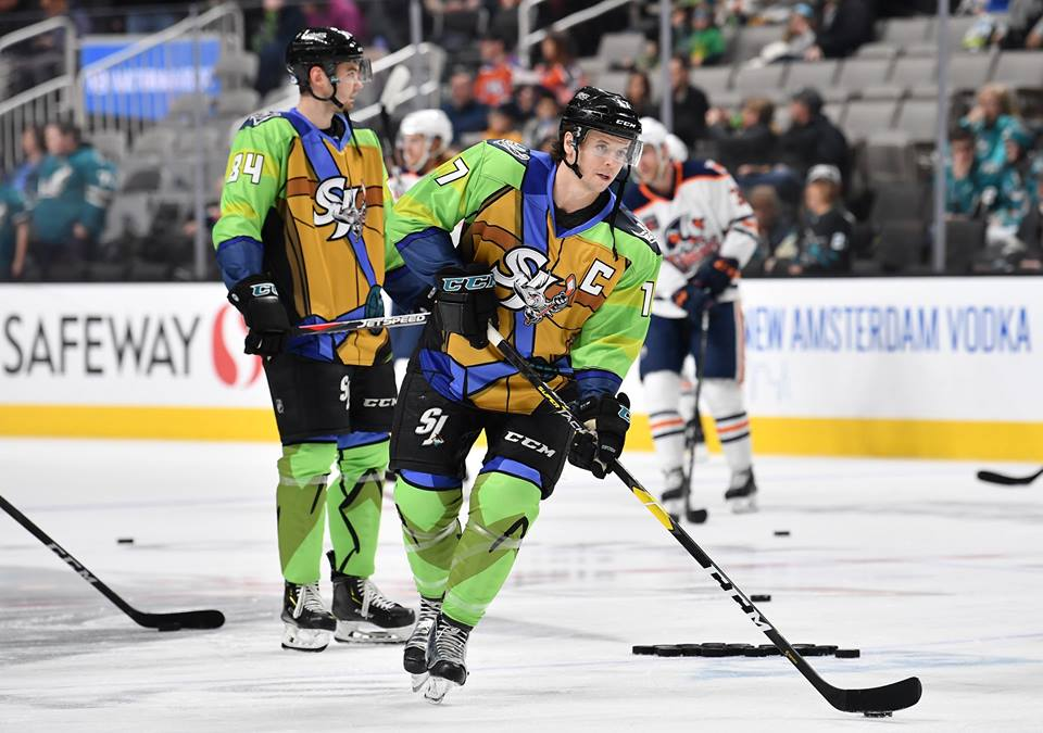 Looking for the best custom hockey uniforms? OT Sports custom hockey uniforms are trusted by the San Jose Barracuda and other AHL teams for the best design and performance! #MadeByOTSports