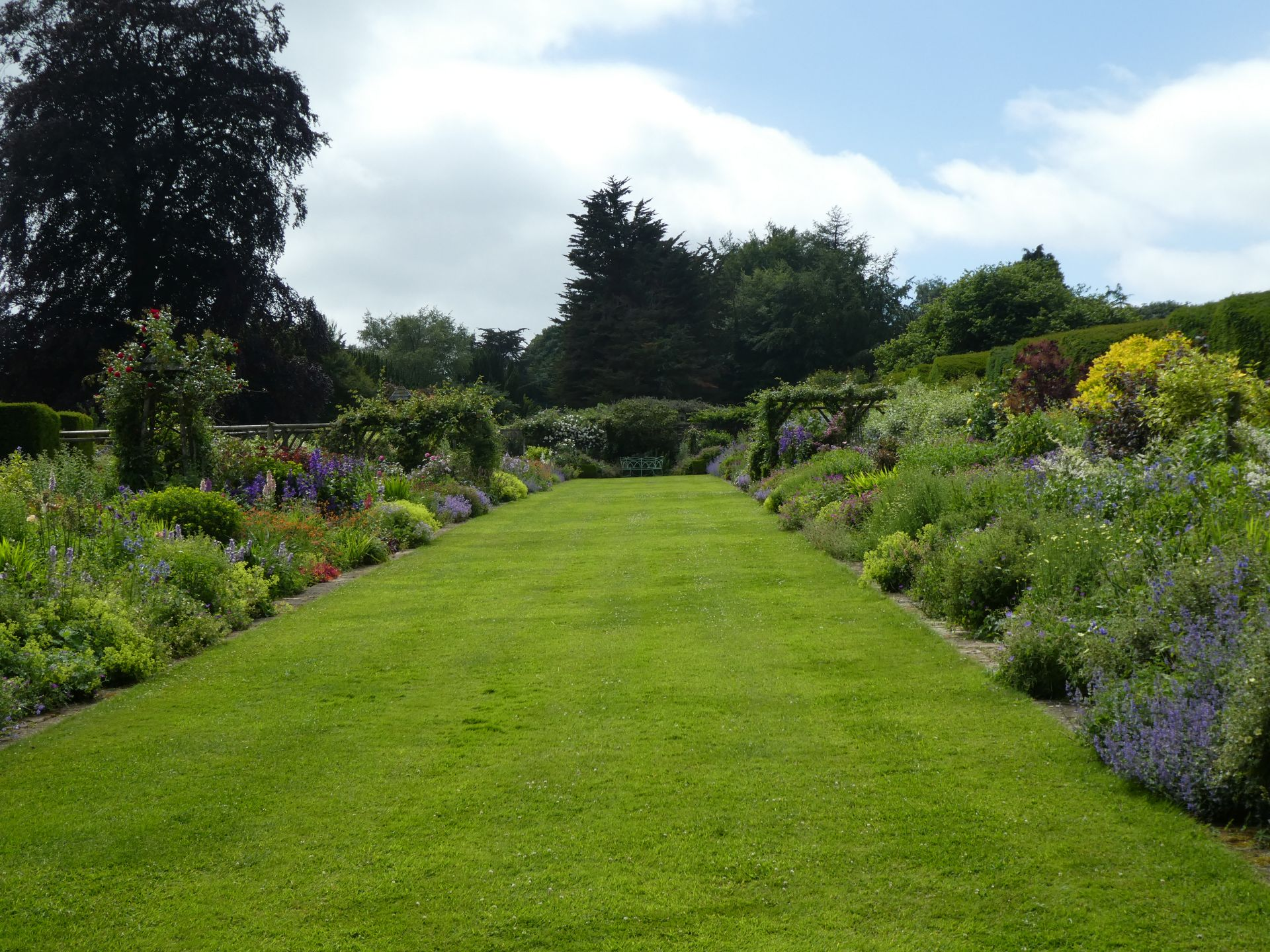 Miserden double herbaceous border