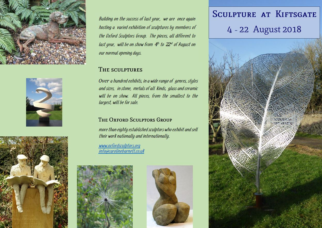 Oxford Sculpture Group showing here in August