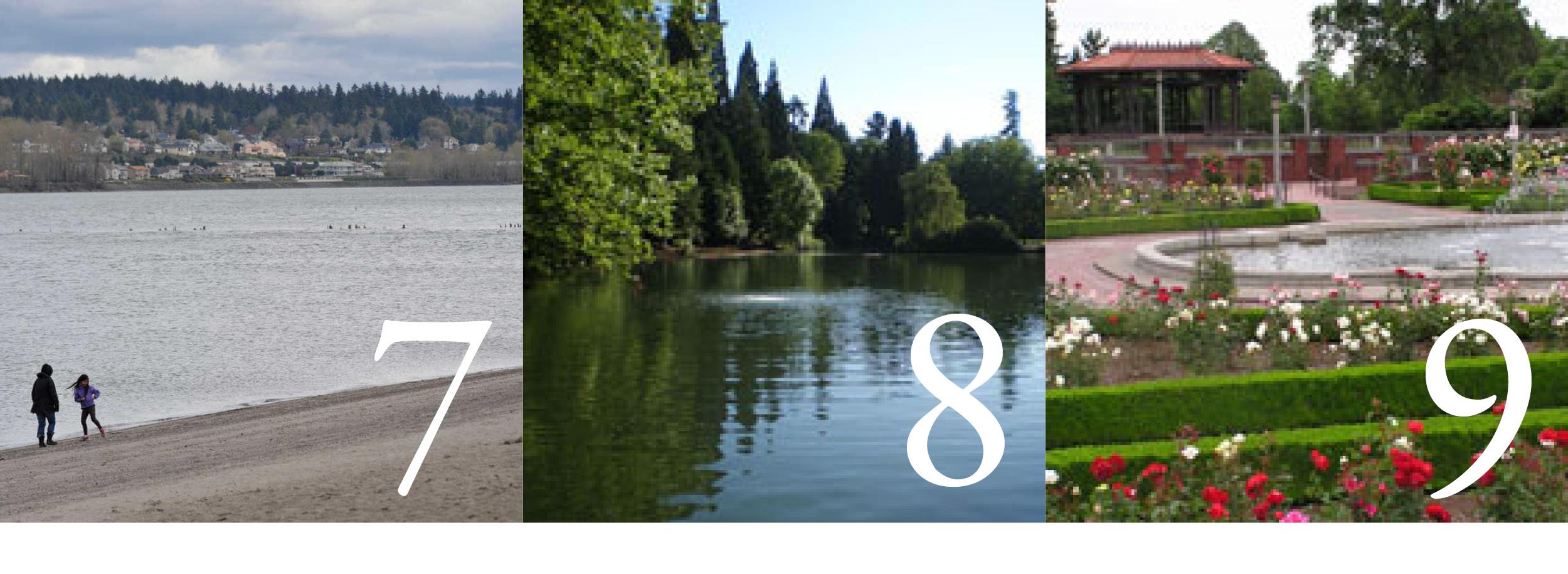 Photo 7 courtesy Metro; Photos 8 and 9 courtesy Portland Parks & Recreation
