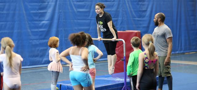 Gymnastics at Montavilla Community Center. Photo courtesy of Portland Parks & Recreation.