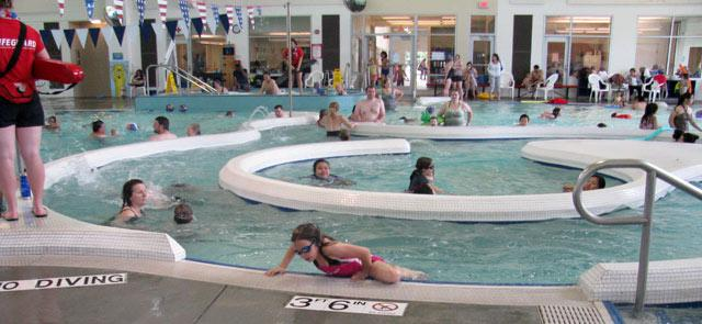 Swimming for all ages at the East Portland Community Center.  Photo courtesy of PP&R.