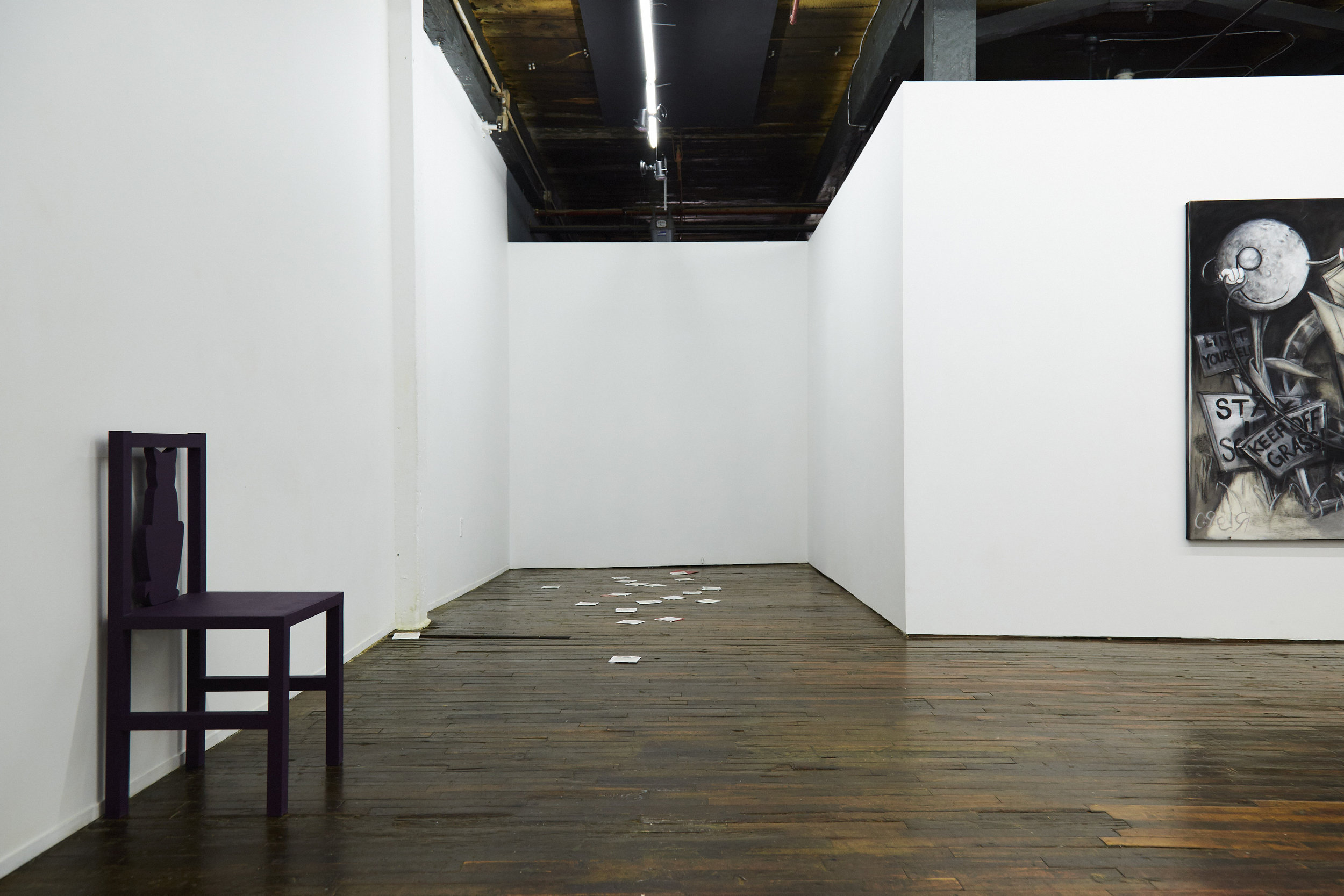 Jonathan Santoro, Michael Assiff, and R.Lord,  Toxoplasmosis  installation view
