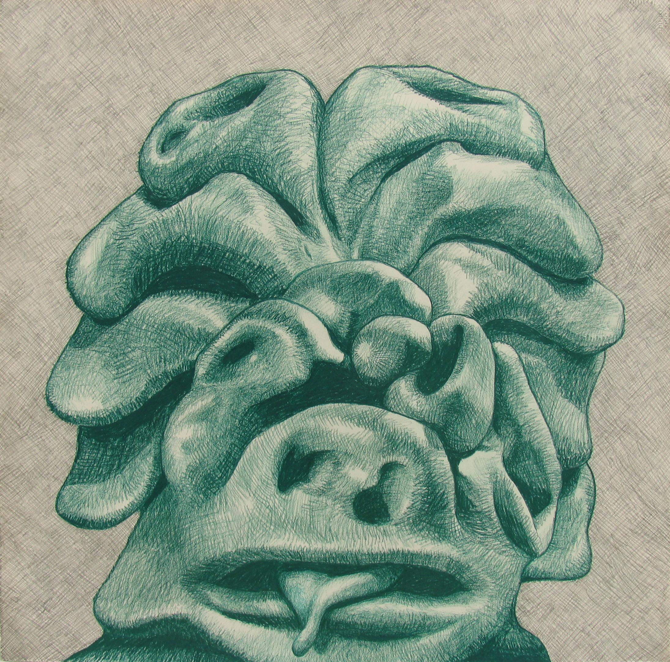 2016, crayon, graphite, 22x22 1/2 inches