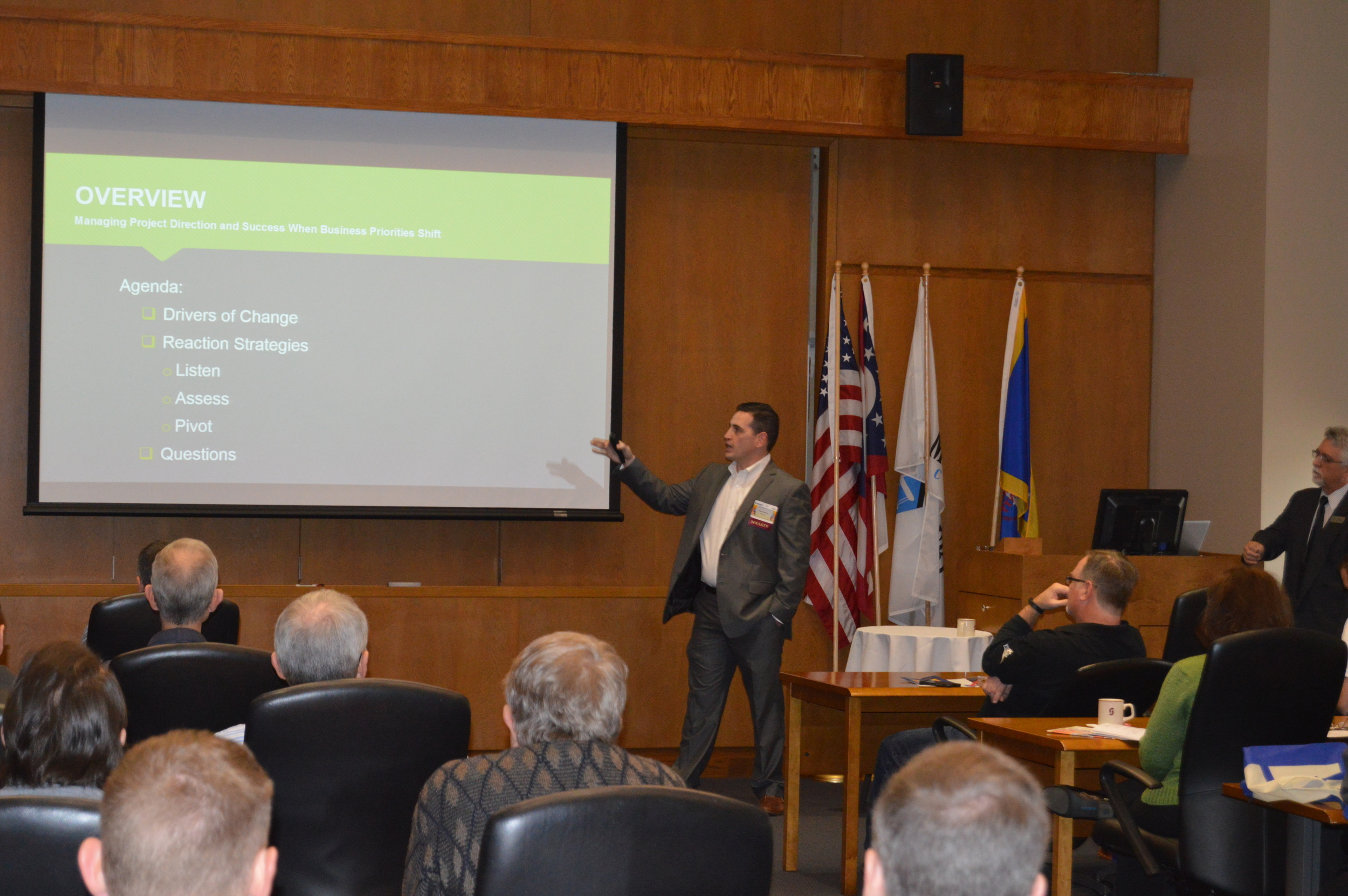 Dustin Werden, Director of Project Management at AfidenceIT, Discussed Reaction Strategies at the Taste of IT Conference.