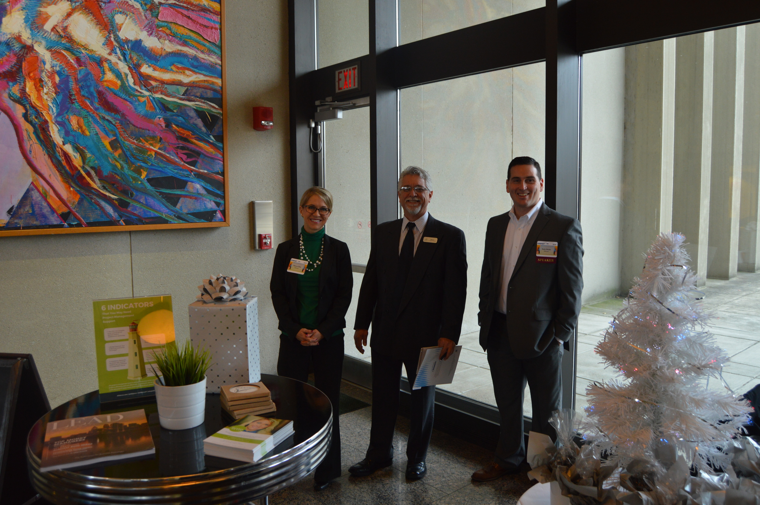 Shannon Glass, Brian Boyce and Dustin Werden Presented at the Taste of IT.