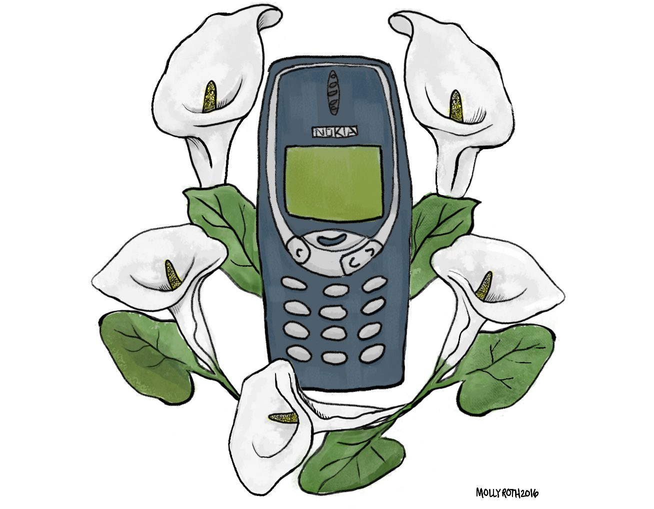 Victoria's Nokia 3310,  Cell Phone Obituaries  for the New Yorker Daily Shouts, 2016