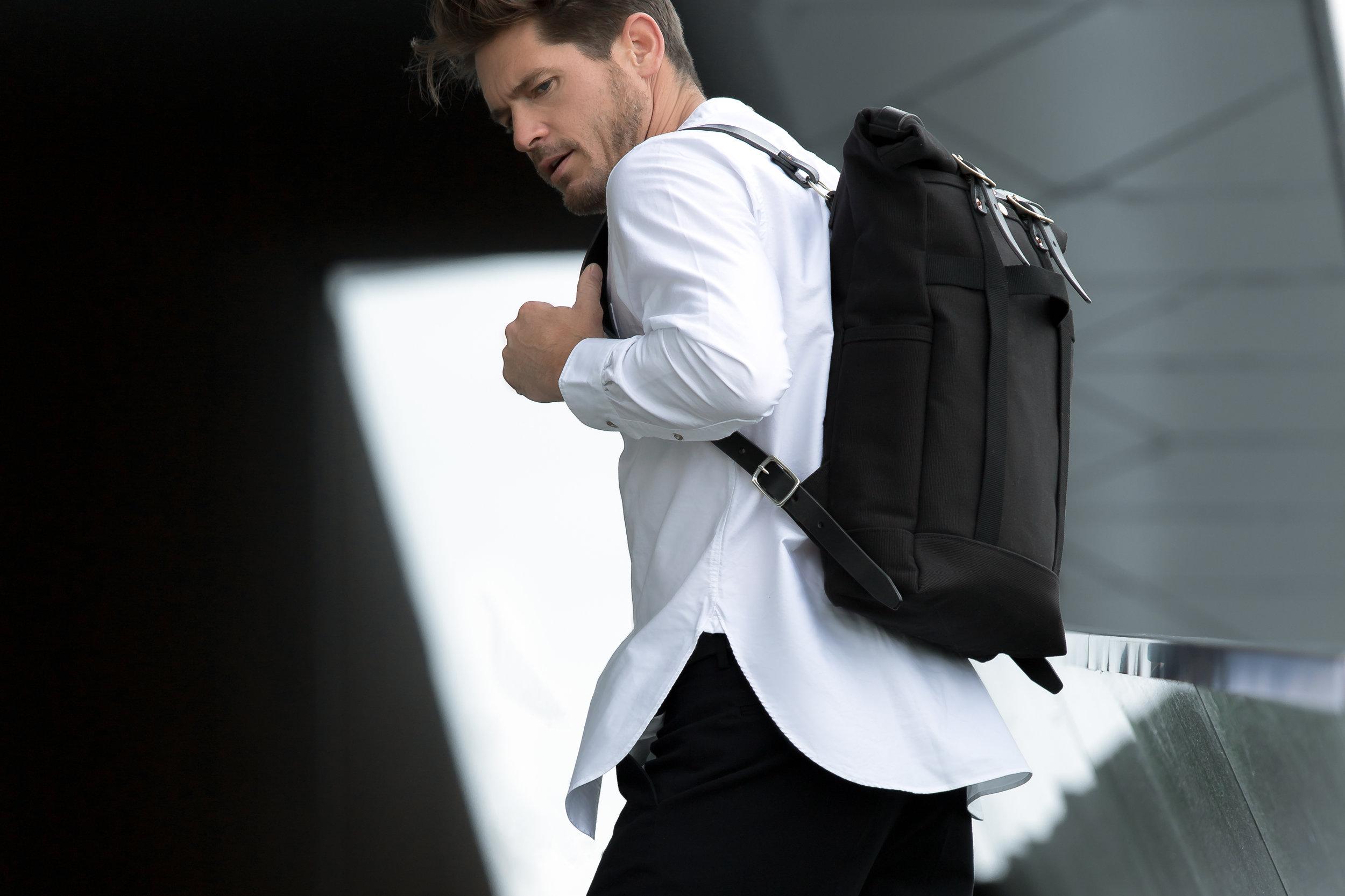 Bag:  Dyemond Goods Urban Backpack //Shirt:  Bellerose Gowd 81 //Pants:  Bellerose Plano