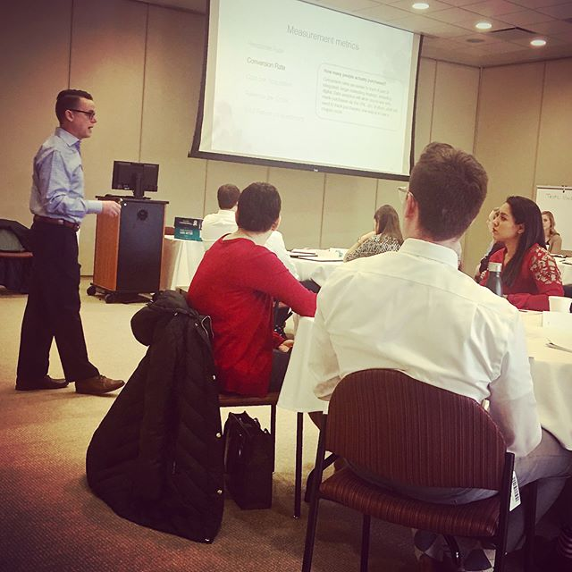 @bvevang teaching a 3-day Basic Marketing Course through CADM with Brad Schwab and Rosann Bartle at Uline Headquarters #educate #payitforward #cadm #marketing #planning