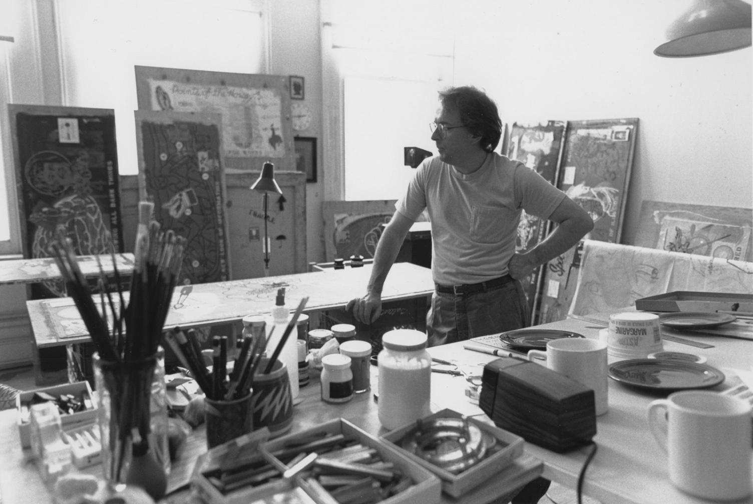 Toronto Studio, 1991. Photograph by Cam MacDonald