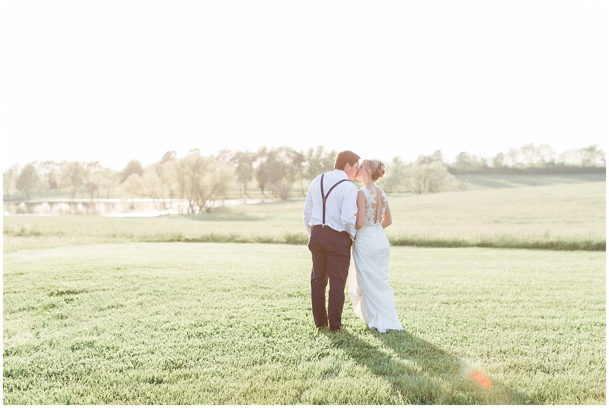 "I doubt you've ever seen a sunset like the one on May 11, 2018. This wedding is one of my all time favorites. Talon Winery was glowing the day Trey & Chelsae got married and the ceremony was filled with smiling faces. Dating all throughout college, the bride and groom dreamed of this perfect day for years.  Chelsae's glam team went above and beyond to highlight her natural beauty. Twirl Botique in Lexington provided a perfect form fitting gown that sparkled at just the right angles. Makeup was perfected by Jordyn Biery and hair was crafted by Marlee Hughes; note the sweet floral additions to Chelsea's romantic updo!   When choosing their bridal party, Chelsae and Trey decided the more the merrier! 14 bridesmaids, all dressed in pink and blush tones, stood by Chelsae as she said,""I do!!"" Trey's men each had a little trinket to give Trey when they met him at the end of the aisle...that means he had 14 different items to shove in his pockets during the ceremony!   The sweetest details of the day were all the photos throughout their time dating. Through the joyful and the hard seasons, Trey & Chelsae held tight to what brought them together in the beginning. Their love for Christ and his grace on their life was evident as they stood at the alter and committed to forever!"
