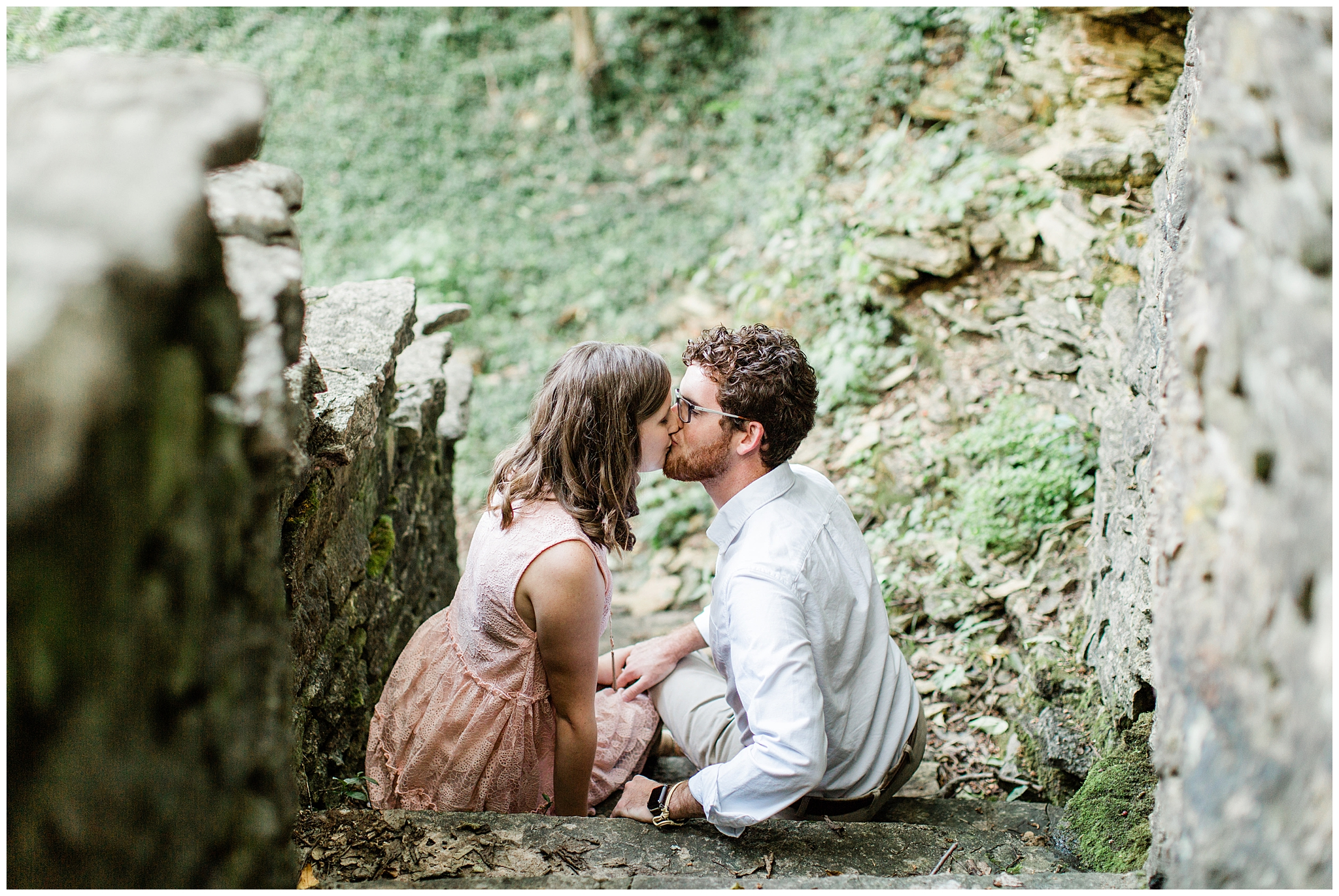 These two little love birds had a beautiful end of summer engagement session in what felt like a hidden secret in the heart of Kentucky at the Kentucky Horse Park. They have not yet gotten married so I am so excited for their wedding later this summer. I hope you all enjoy the beautiful stone, greenery and golden light (which is always my favorite).