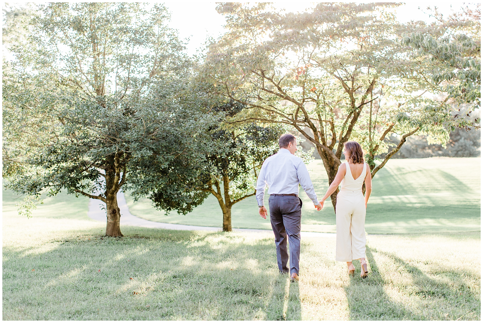 This 2018 engagement session is one that photographer dreams are made of. We did this session at the beautiful Cherokee Park in Louisville, KY. The trees mixed with the beautiful golden sunlight made this session one for the books. Also Jonathan is one of the funniest grooms I've ever photographed and it made this session so fun. I hope you all enjoy, their wedding will be on the blog soon as they got married in April 2019.