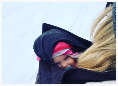 Last week: snug as a bug in a rug. Yes we do still have that much snow. Count your blessings.