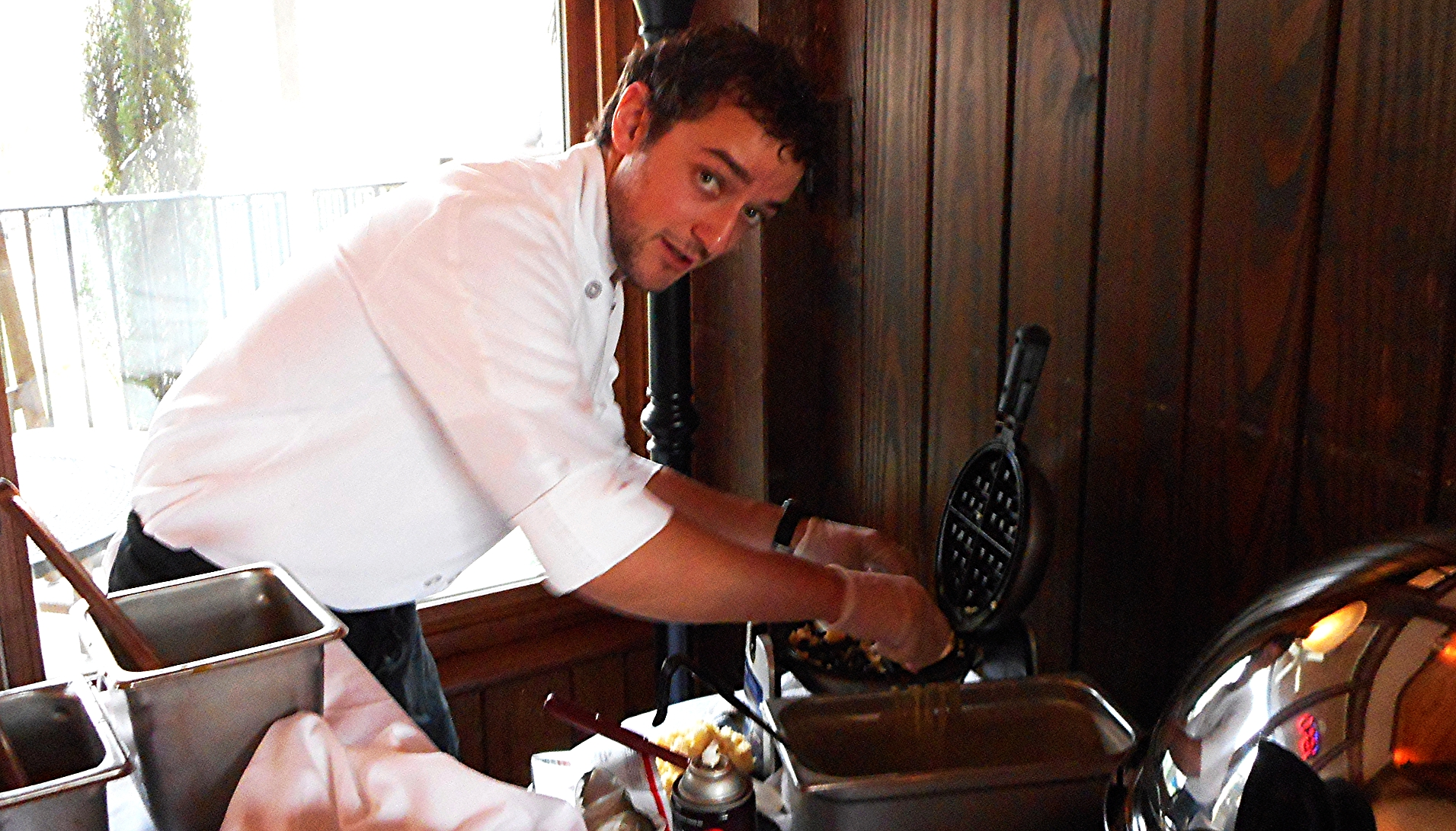 "Sous Chef Matthew Moughalian shines at Sunday brunch and is rapidly becoming Chef Steve Moughalian's ""right arm."""